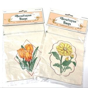 🌸🌵🌼Vintage Floral Boutique Drawstring Bags NEW